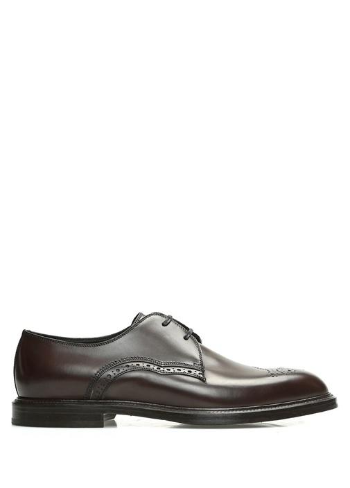 Dolce&Gabbana Kahverengi ERKEK  Kahverengi Bağcıklı Desenli Erkek Deri Ayakkabı 518992 Beymen