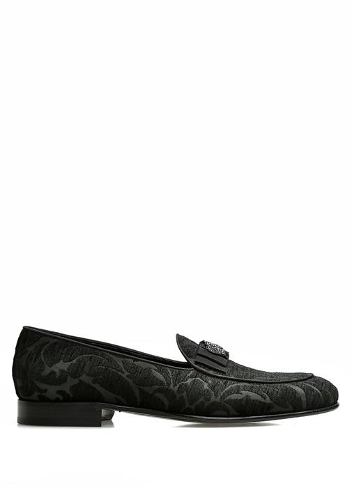 Dolce&Gabbana Siyah ERKEK  Siyah Etnik Desen İşlemeli Smokin Ayakkabısı 519001 Beymen