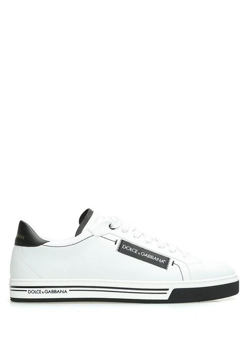 Dolce&Gabbana Beyaz ERKEK  Beyaz Logolu Erkek Deri Sneaker 519031 Beymen