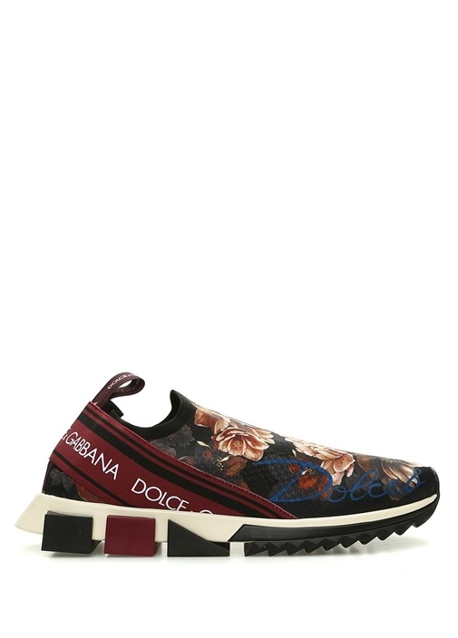 Branded Çiçek Baskılı Taban Detaylı Erkek Sneaker