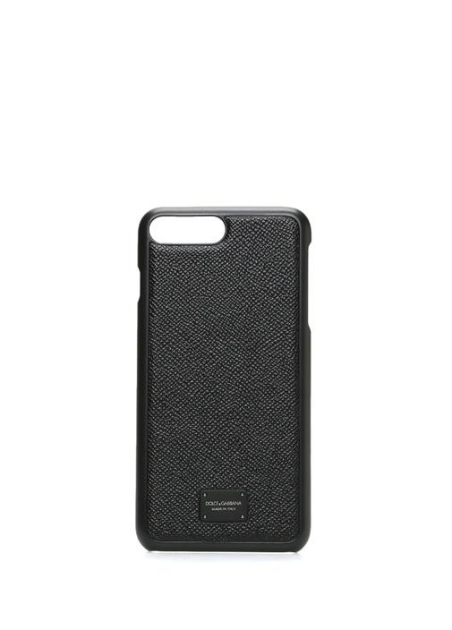 Siyah Dokulu iPhone 7 8 Plus Telefon Kılıfı