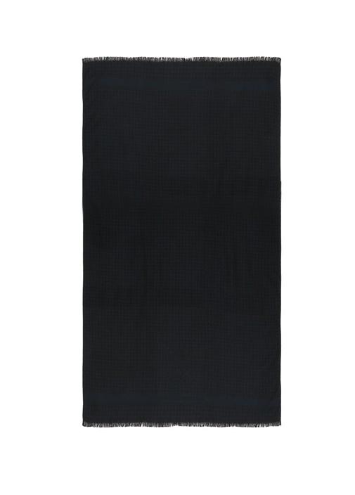 Lacivert Kareli 70x180 cm Erkek Kaşmir Atkı