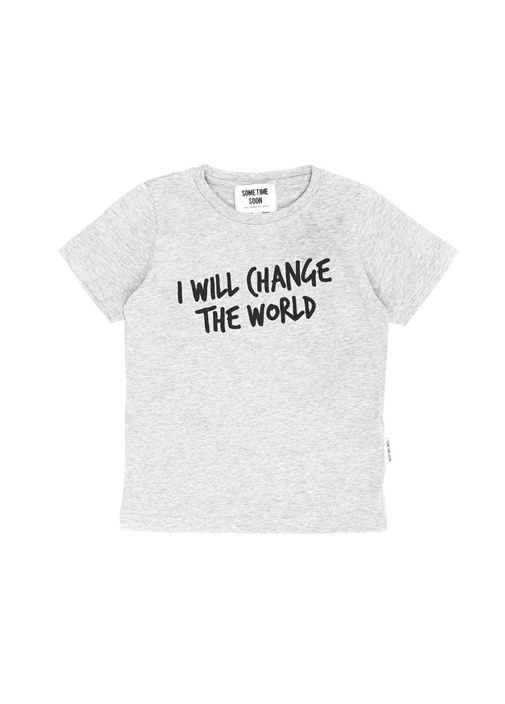 Change Gri Yazı Baskılı Erkek Çocuk T-shirt