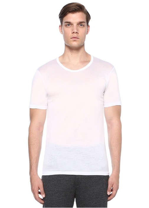 252 Royal Beyaz Basic T-shirt