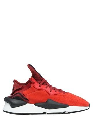 Y-3 Kaiwa Kırmızı Logolu Erkek Süet Sneaker