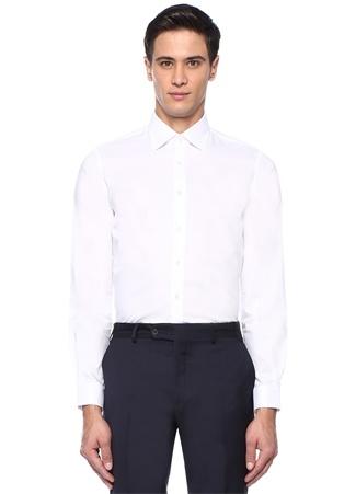 Beymen Bes Erkek Custom Fit Beyaz Modern Yaka Oxford Gömlek 44 IT male
