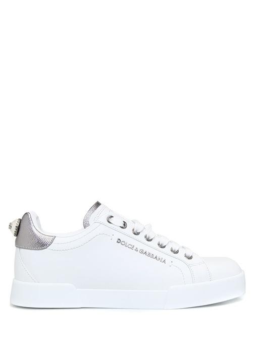 Portofino Beyaz Logolu Kadın Deri Sneaker