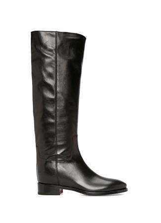 Santoni Kadın Siyah Deri Çizme 37.5 EU female