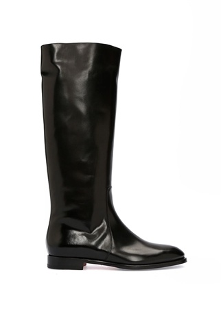 Santoni Kadın Siyah Deri Çizme 36 EU