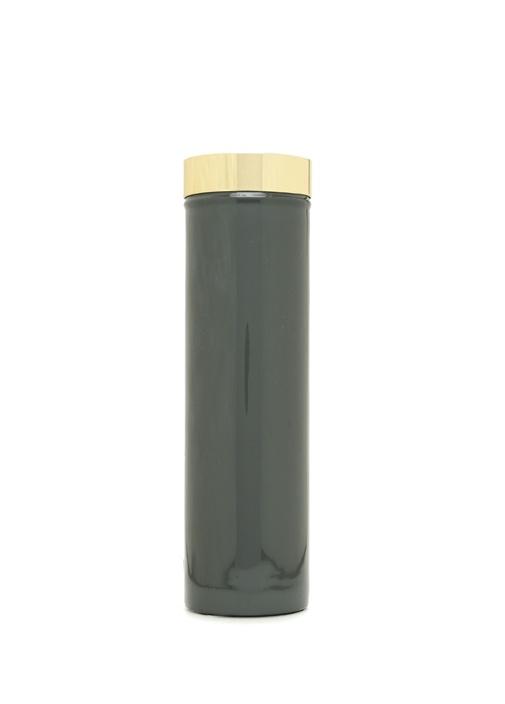 Enamel Lacivert Silindir Formlu Porselen Vazo