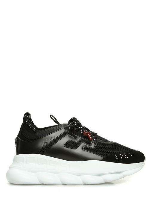 Siyah Süet Detaylı Erkek Sneaker