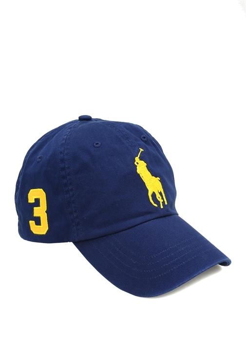 Lacivert Logo Nakışlı Erkek Şapka