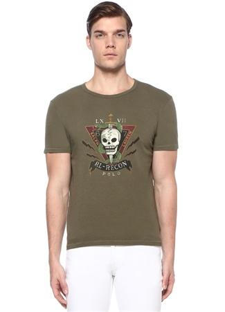 Yeşil Baskılı Basic T-shirt