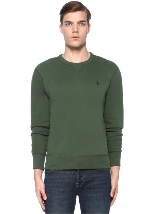 Haki Logo Nakışlı Sweatshirt