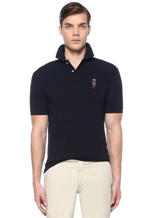 3efa0c3a557251 Slim Fit Lacivert Polo Yaka Ayıcık Nakışlı T-shirt HIZLI BAK POLO RALPH  LAUREN ...