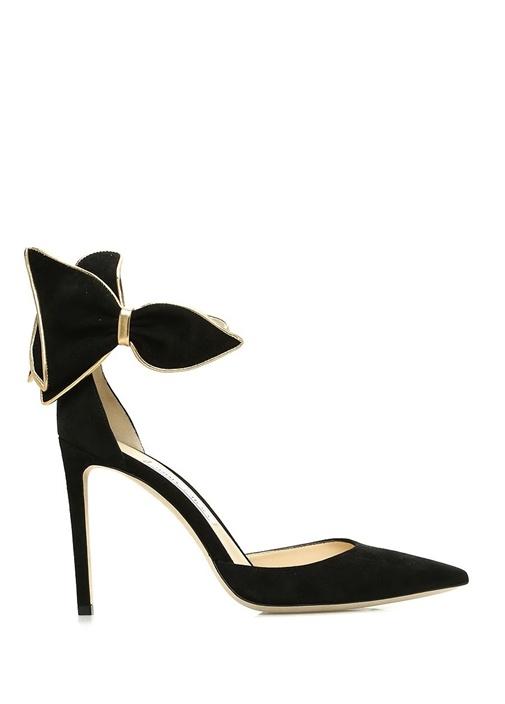 Jımmy Choo Kelley 100 Siyah Fiyonklu Kadife Gece Ayakkabısı – 2449.0 TL