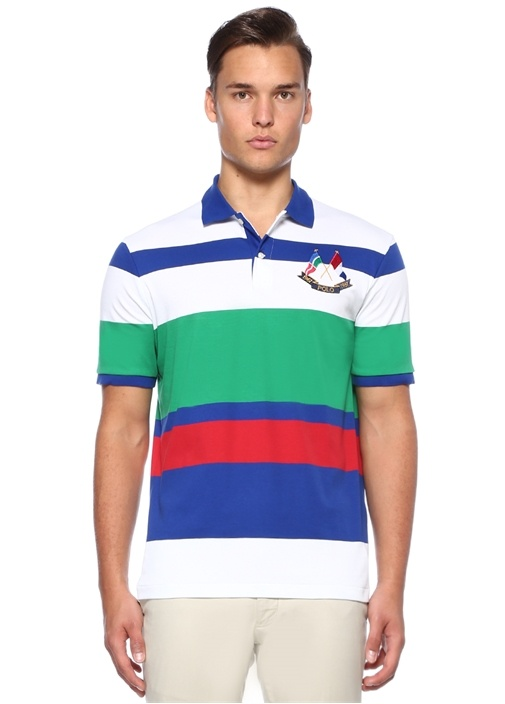 Classic Fit Çizgili Polo Yaka T-shirt