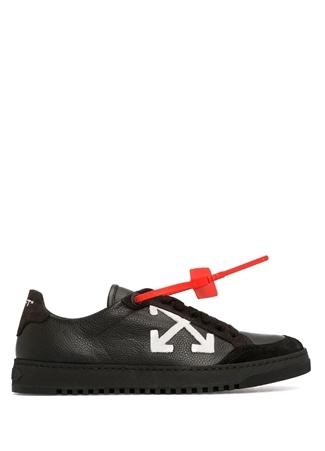 Off-White Kadın Siyah Logo Baskılı Deri Sneaker 39 EU
