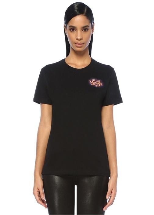 Off-whıte Siyah Baskılı Basic T-shirt – 689.0 TL