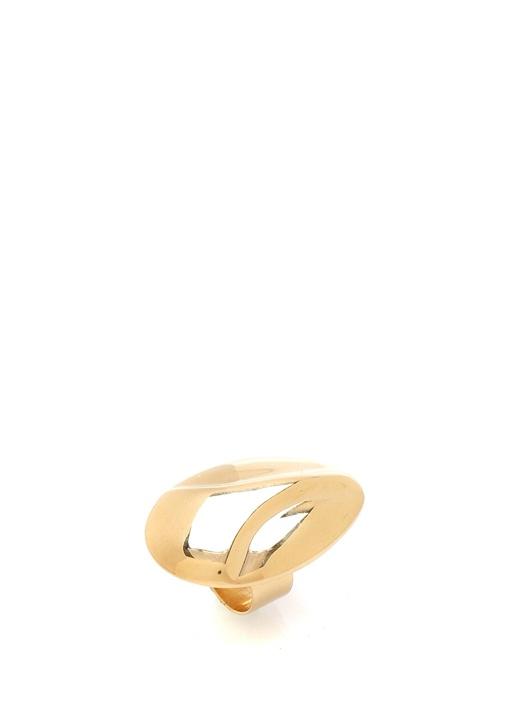 Gold Oval Formlu Kadın Yüzük