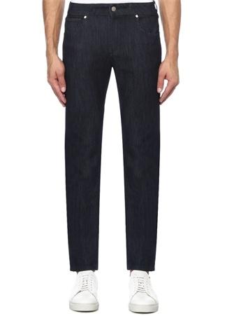 Slim Fit Lacivert Rins Yıkamalı Jean Spor Pantolon