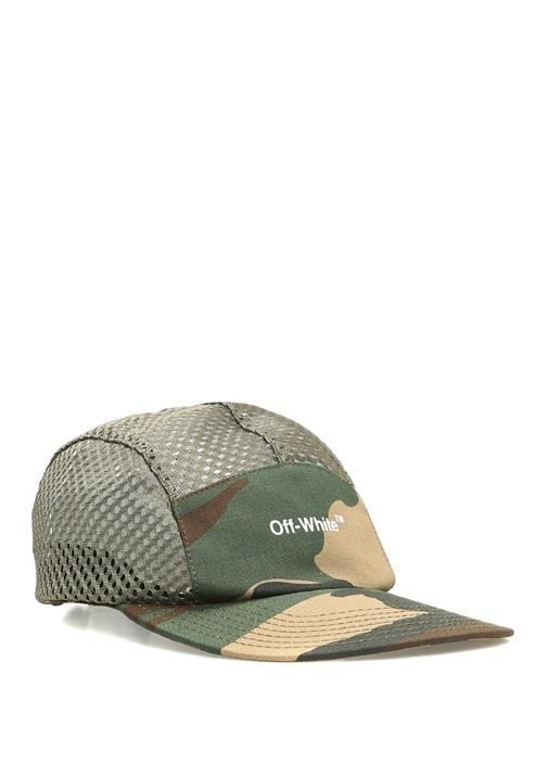 Mesh Haki File Detaylı Erkek Şapka
