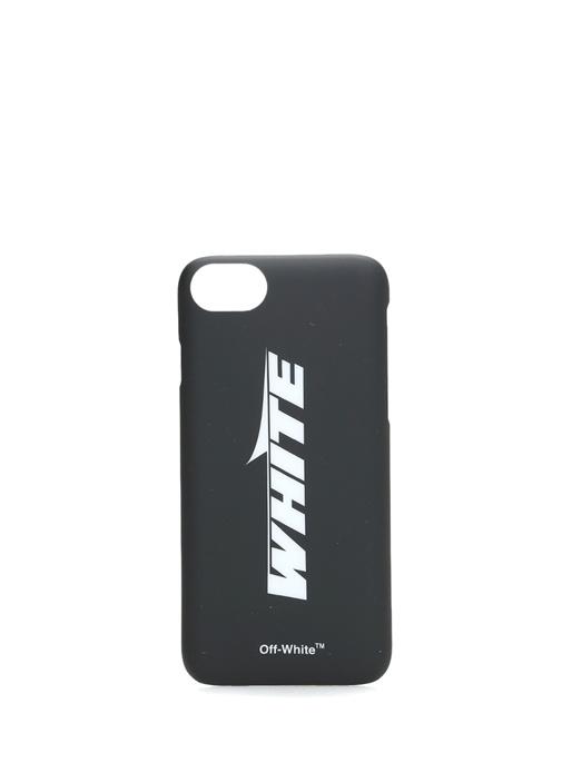 Wing Off Siyah Logolu iPhone 8 Telefon Kılıfı
