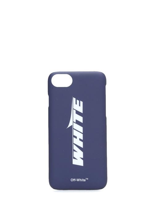 Wing Off Lacivert Logolu iPhone 8 Telefon Kılıfı