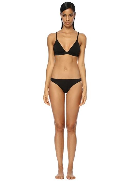Siyah Klasik Üçgen Bikini Takımı