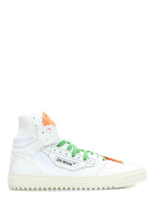 Off-White Beyaz ERKEK  Beyaz Logolu Bilekli Erkek Deri Sneaker 522488 Beymen