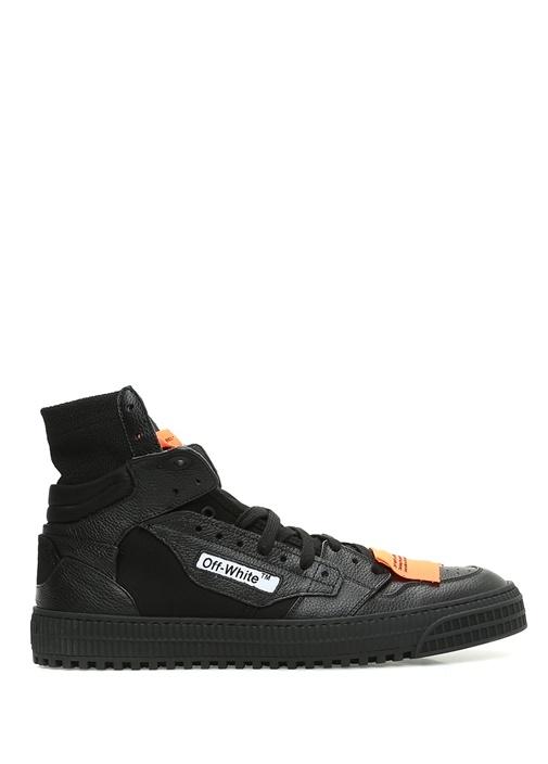 Off-White Siyah ERKEK  Siyah Logolu Bilekli Erkek Deri Sneaker 522459 Beymen