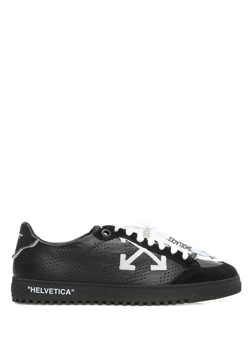 Off-White Siyah ERKEK  Siyah Süet Detaylı Erkek Deri Sneaker 522467 Beymen
