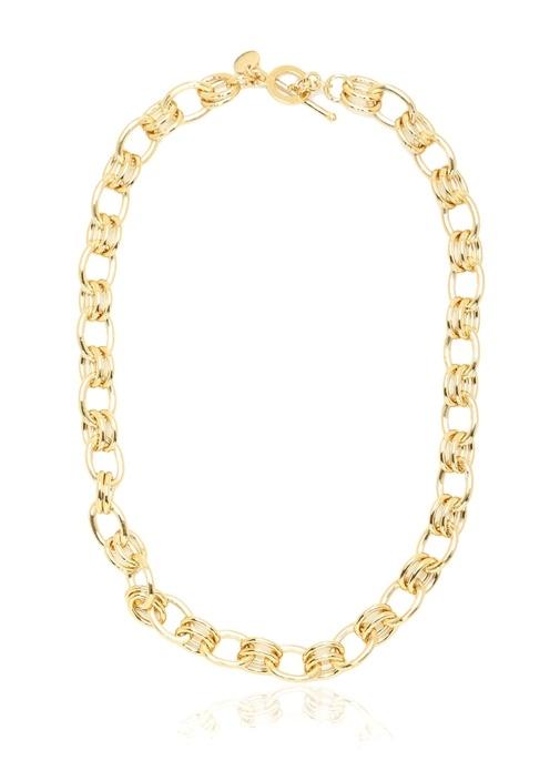 Gold Zincir Formlu Kadın Kolye