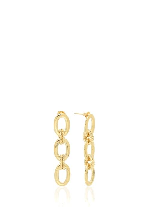 Gold Zincir Formlu Kadın Küpe