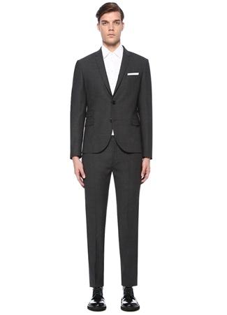 Neil Barrett Erkek Slim Fit Antrasit Dokulu akım Elbise Gri 50 I (IALY) Ürün Resmi