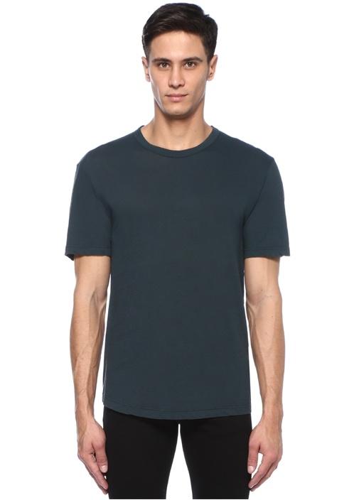 Yeşil Bisiklet Yaka Basic T-shirt