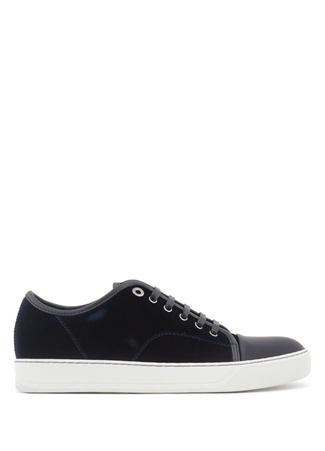 Lanvin Erkek Lacivert Kadife Sneaker Siyah 7 UK male