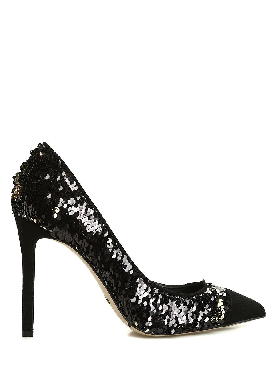 Beymen Collection  Gold Siyah Pullu Kadın Gece Ayakkabısı