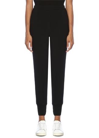 Stella McCartney Kadın Julia Siyah Yüksek Bel Paçası Lastikli Pantolon 42 IT