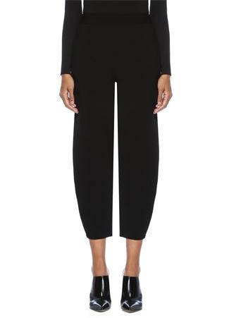 Stella McCartney Kadın Siyah Yüksek Bel Crop riko Pantolon 40 I (IALY)