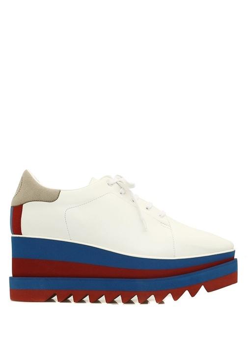 Elyse Beyaz Şerit Tabanlı Kadın Sneaker