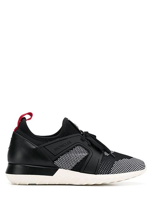 Emilien Siyah Beyaz Logolu Erkek Deri Sneaker