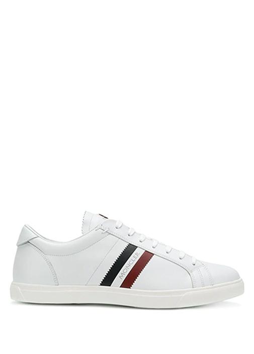 La Monago Beyaz Logolu Erkek Deri Sneaker