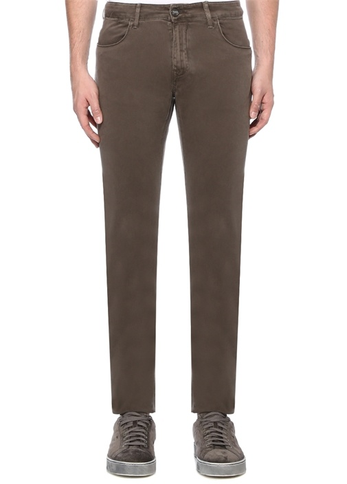 Kahverengi Normal Bel Boru Paça Pantolon