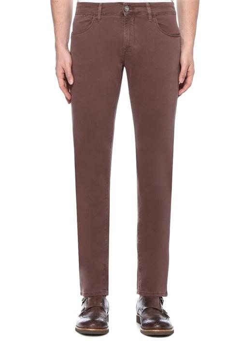Bordo Normal Bel Boru Paça Pantolon