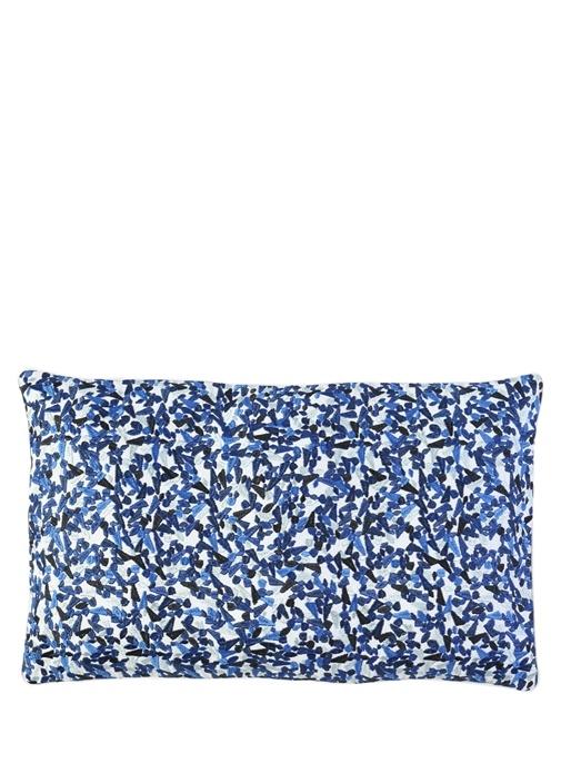 Terrazzo Mavi Nakışlı Yastık Kılıfı