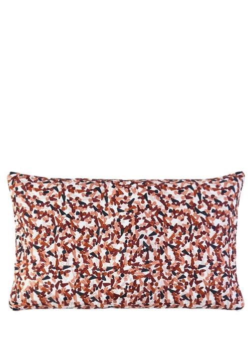 Terrazzo Kırmızı Desenli 57x33 cm Dekoratif Yastık