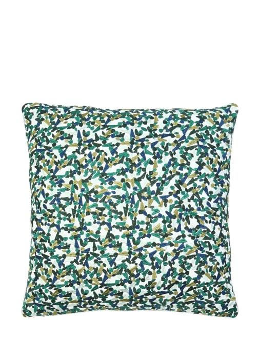Terrazzo Yeşil Desenli 45x45 cm Dekoratif Yastık