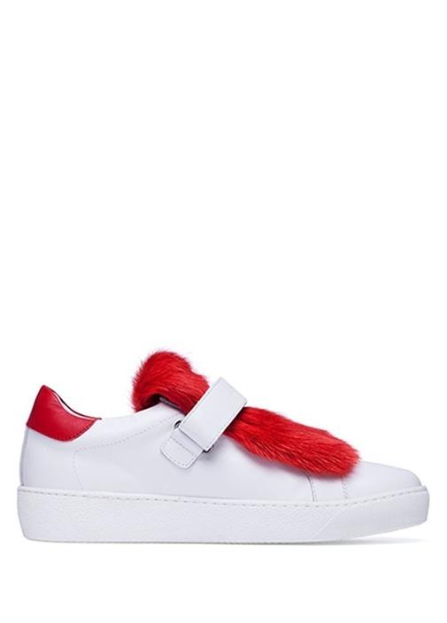 Lucie Kırmızı Beyaz Kadın Deri Sneaker