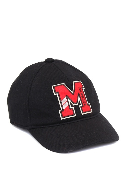 Siyah Logo Patchli Erkek Çocuk Şapka